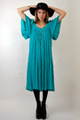 Turquoise-blue-sheer-gauze-rock-paper-vintage-dress-black-liiiiiita-jeffrey-ca