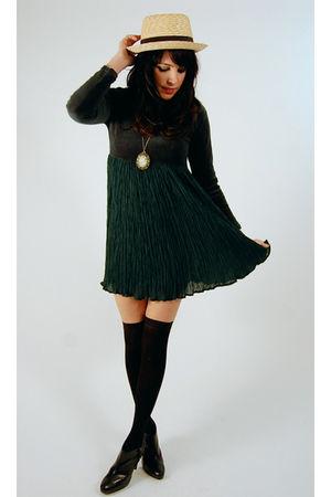 green vintage from Ebay dress