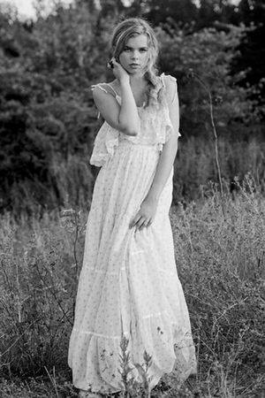 white vintage Gunne Sax from Rock Paper Vintage dress