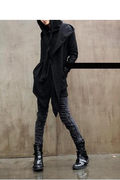 black dior homme boots - gray Diabro jeans