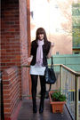 Black-portmans-blazer-white-sportsgirl-dress-pink-basque-scarf-black-zu-bo