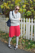 Limited sweater - thrifted skirt - Anne Klein socks - Nine West shoes - balencia
