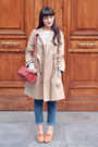 Tan-orla-kiely-coat-blue-vintage-jeans-brick-red-misha-barton-bag