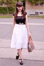 Black-swedish-hasbeens-shoes-ruby-red-orla-kiely-bag-white-vintage-skirt