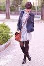 Periwinkle-dear-creatures-dress-navy-max-co-jacket-black-calzedonia-tights
