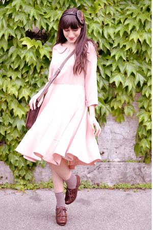 garnet bracelet - Chie Mihara shoes - licia florio dress - vintage bag