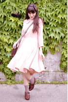 garnet bracelet - Chie Mihara shoes - licia florio dress - vintage bag