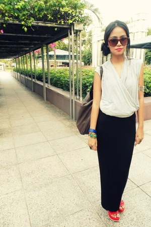Zara top - maxi new look skirt