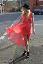 coral Pop Couture dress