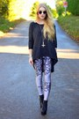 Heather-gray-bird-print-lovely-sally-leggings