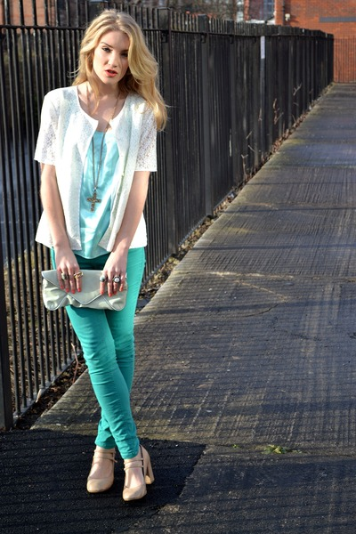 Teal-republic-jeans-cream-vintage-jacket-aquamarine-clutch-bag-topshop-bag_400