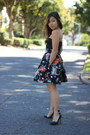 Black-h-m-skirt-black-bandage-bustier-nasty-gal-top-black-zara-heels