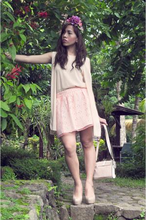 eggshell PINK FASHION bag - light pink Forever 21 skirt