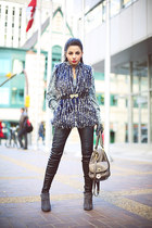 Marc Jacobs bag - catherine malandrino blouse - Anne Klein vest - Zara gloves