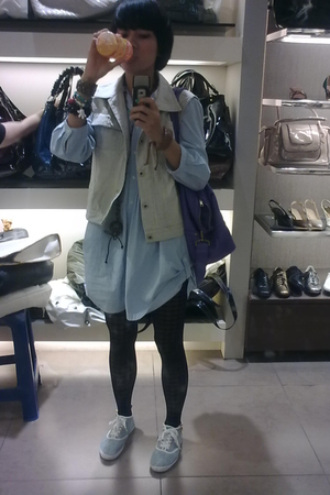 my mother clothes top - cottontale origins vest - H&M scarf - H&M shoes - HK sto