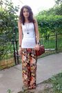 White-top-pants-blue-necklace-brown-marc-chantal-purse-black-nicolis-b