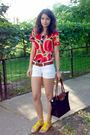 Shirt-white-shorts-brown-belt-black-longchamp-purse-white-sunglasses-g