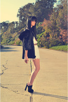 H&amp;M dress - CZ Falconer coat - Senso Diffusion clogs