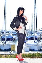 Nine West heels - Current Elliott jeans - Doma jacket - rag & bone shirt