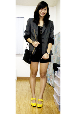 alex marie blazer - Mango - Space shorts - SO Fab - Bally - ichigo necklace