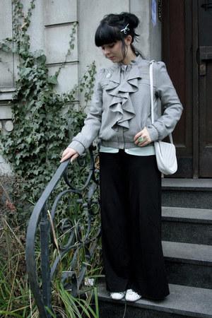 silver Topshop jacket - cream vintage bag