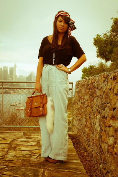white foxtail Ebay accessories - asos scarf - tawny satchel asos bag