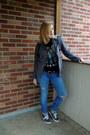Ripped-levis-jeans-dark-gray-cotton-tank-xxi-t-shirt