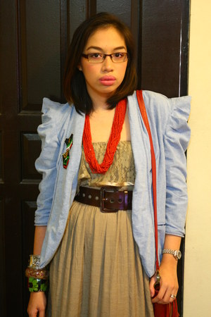 dress - denim jacket Undernourished Manila blazer