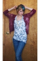 Mossimo sweater - American Eagle top - ezara fitch jeans - granmothers necklace