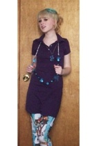 American Apparel dress - Insight leggings - the iceing maybe necklace - DIY w bo