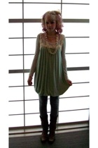 Forever21 dress - Forever21 top - grandmas necklace - Urban Outfitters leggings