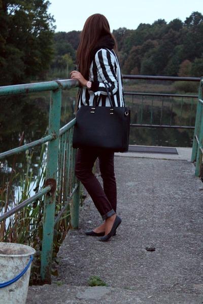 black Zara blazer - black H&M bag