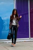 suiteblanco blazer - silver asos heels