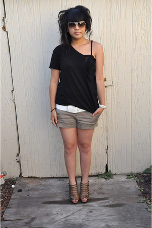 DIY top - H&amp;M belt - Bakers shoes - H&amp;M accessories - Marc by Marc Jacobs sungla
