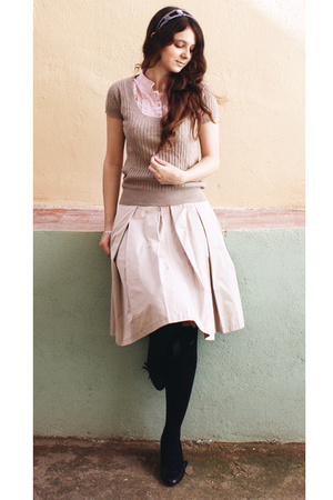 Zara skirt - Zara top - Zara shirt - asos socks - next shoes - next accessories
