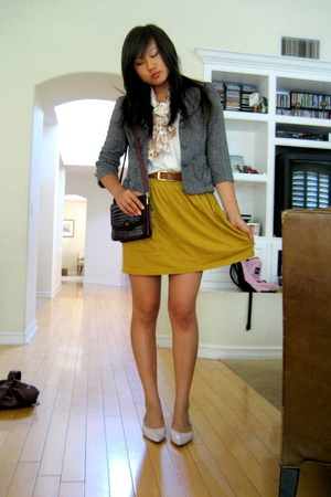 f21 blazer - aa skirt - vintage purse - Elie Tahari shoes