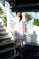 purple Forever 21 dress - white seychelles shoes