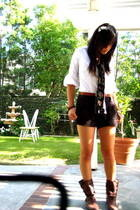 Michael Kors shorts - Halogen blouse - Blowfish shoes