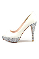 Siver Glitter Party Heels (Handmade Shoes)