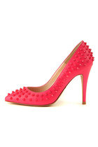 Pink Stud Pumps (Handmade Shoes)