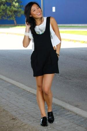 off white Forever 21 t-shirt - black street style Forever 21 romper