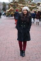 maroon skinny Zara pants