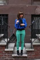 vintage top - H&M pants - Forever21 belt