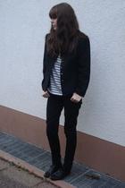 H&M jeans - goertz - H&M shirt - vintage blazer