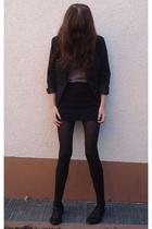 American Apparel skirt - H&M blazer - American Apparel top - goertz shoes