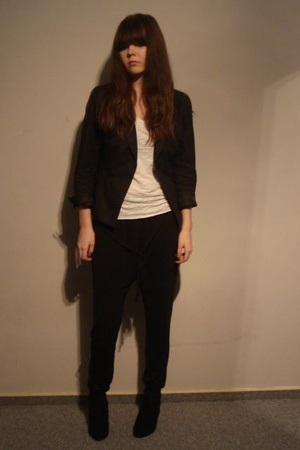 H&M blazer - H&M t-shirt - Buffalo - Topshop pants