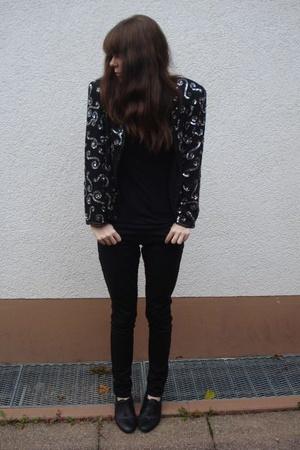 American Apparel top - H&M pants - goertz - vintage jacket