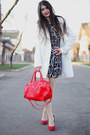 Red-la-strada-shoes-blackwhite-h-m-dress-white-h-m-coat-red-h-m-bag
