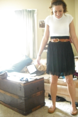 Wet Seal shirt - skirt - asos belt - shoes
