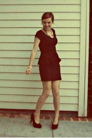 black peplum H&M top - black Charlotte Russe heels